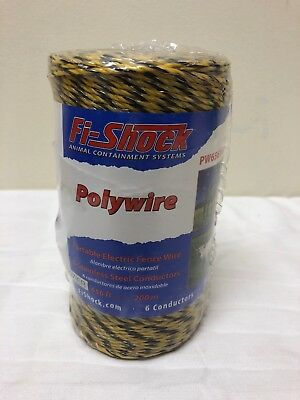 Fi-Shock Polywire Electric Fence Wire 656 Ft Woven Poly/Stainless Free Shipping