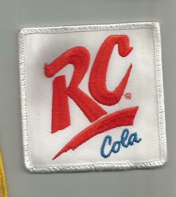 1980's VINTAGE RC COLA SOFT DRINK SODA PATCH EMPLOYEES 3 INCHES SEWN