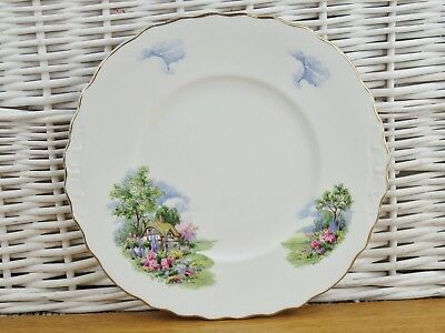 Royal Vale Cottage Garden Bone China Cake plate Bread Plate