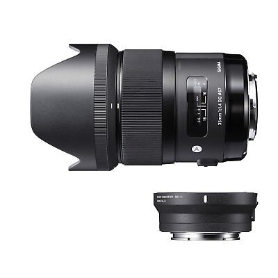Sigma 35mm f/1.4 DG HSM Art Lens for Canon EF and MC-11 Mount Converter/Lens