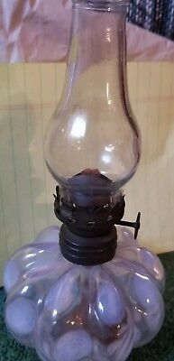 Antique miniture white teardrop Opalescent lamp