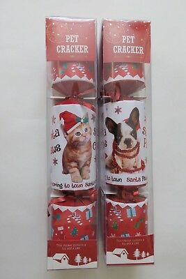 Christmas Crackers Luxury Dog Cracker Pet Cartoon Xmas Crackers for Dogs Party