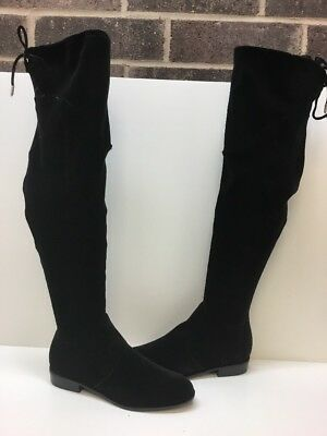be8b59a9a17 Marc Fisher  Hulie  Black Synthetic Velvet Over The Knee Boots Women s Size  8 M