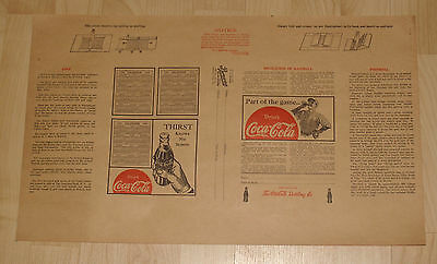 Vintage Coca Cola Paper Advertising School Book Cover Unused Nos Browne 1937 1