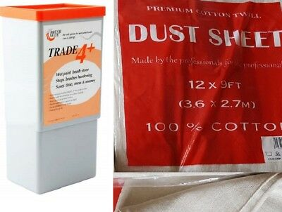 Cotton Twill Dust Sheet Various Size DIY Builder Decorating Cover or Brushmate 4