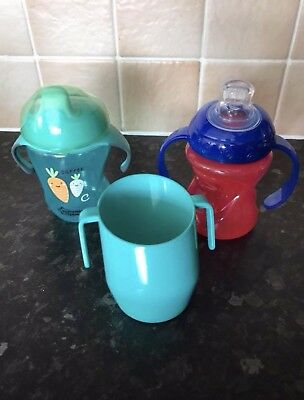 3 Baby Drinking Cups Including Doidy Cup
