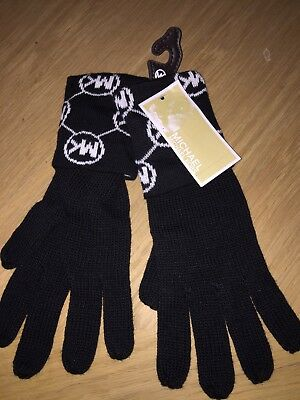 Michael Kors MK Knit Logo Gloves Autumn Christmas One Size New With Tag