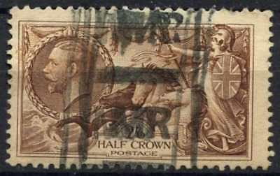 GB KGV1934 SG#450, 2s6d Chocolate, Brown Seahorse Used #D79452