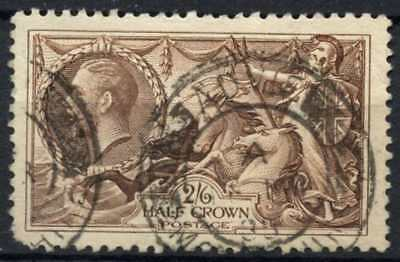 GB KGV1934 SG#450, 2s6d Chocolate, Brown Seahorse Used #D79453