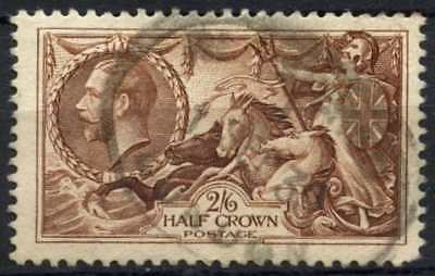 GB KGV 1934 SG#450, 2s6d Chocolate, Brown Seahorse Used #D79454