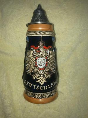 "Lidded German Beer Stein - Deutschland - 9.5"" - NEW WITH TAGS - #2068 of 10,000"