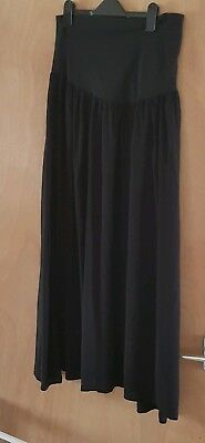 Black Maternity Maxi Long Skirt Size 14 (over the bump) New Look
