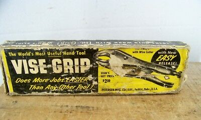 """Peterson Vise-Grip in Original Box with Insert No. 7WR 7"""" Vintage"""