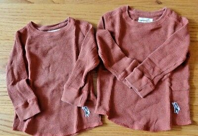 Lot 2 Lucky Brand TERMAL Warm Long Sleeve Size 2T Toddler Child Kid Infant