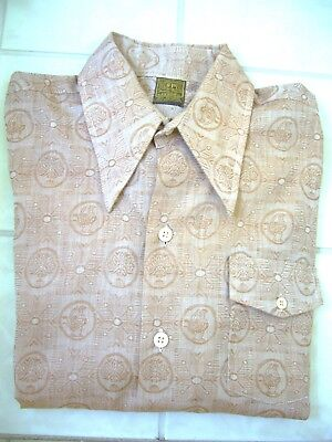 Vintage 1970's Mens Western Sytle Long Sleeve Shirt