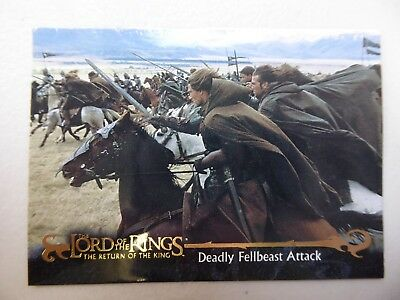 TOPPS Card : LOTR The Return Of The King  #30 DEADLY FELLBEAST ATTACK