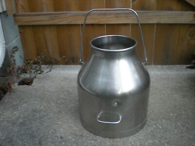 Vintage DeLaval 5 Gallon Milk Cream Pail Bucket Stainless Steel Dairy Farm Can