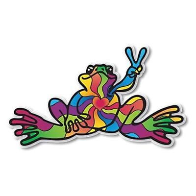 """Peace Frogs Heart & Soul Sticker ~ 6"""" x 3"""" ~ High Quality Vinyl ~ Ships Free!!!"""