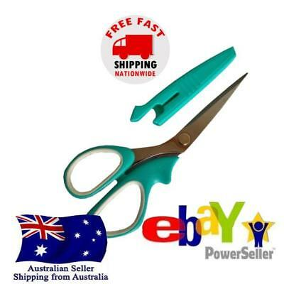 Left Handed Scissors Stainless Steel 15cm Soft Rubber Handle Office Craft Art