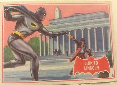 "Vintage Original Batman Trading Card, 17A "" Link to Lincoln"