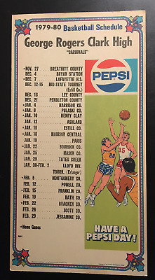 1979-1980 Pepsi Cola George Rogers Clark H.S. Basketball Sch.– Winchester, KY