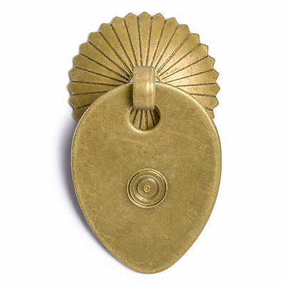 CBH 2 Chinese MELON SEED Brass Hardware Drawer Pulls 1.9""