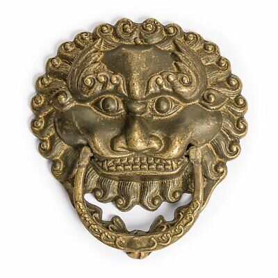 CBH Chinese LION Brass Door Knocker Pull Hardware 6""