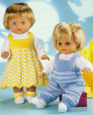 Vintage Knitting Pattern DOLL 8 Ply DK Copy Doll Height 31 to 56 cms