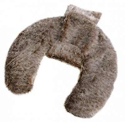 Warmies Deluxe Heat Lavender Neck Wrap Faux Fur Warmer Boxed Christmas Gift