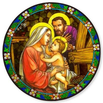 Holy Family Stained Glass Suncatcher Sitcker Window Cling NEW