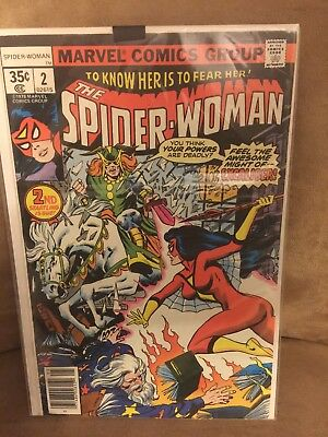 Vintage 1978 Marvel No.2 The Spider-Woman Comic Book Excaliber PS-19