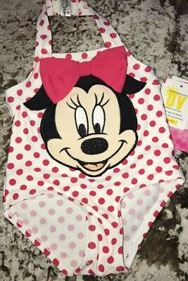Nwt Baby Girl Disney's Minnie Mouse Bathing Suit Size 3-6 Months