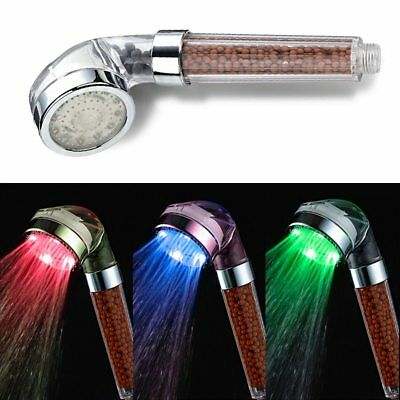 LED Automatic Control Luminous Shower Head Removable Anion Handheld Shower