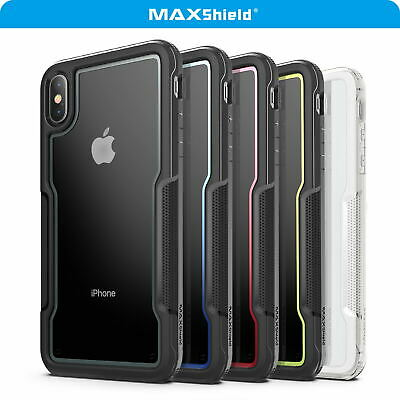 For iPhone X XS MAX XR Case Cover, Heavy Duty Shockproof Slim Clear Protect Case