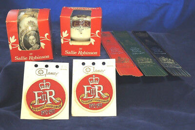 1977 2 Pomanders Queen Elizabeth Ii Silver Jubilee Boxed 3 Bookmarks 2 Patches