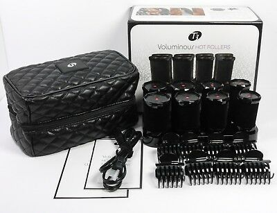 """T3 Voluminous Hot Rollers Curlers 4X 1.75"""" 4X 1.5"""" Complete in Open Box"""