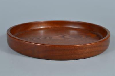 R6118: Japanese Hollowed out WOODEN TRAY/plate Senchabon Tea Ceremony