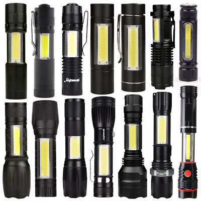 Portable Mini COB Tactical LED Flashlight Torch Working Pocket Lamp Light