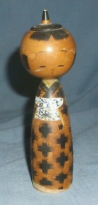 Vintage Hand Painted Wood Japanese Kokeshi Doll Figurine