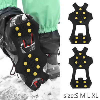 Snow Ice Shoes Cover Grippers Spikes Grips Climbing Anti-Slip Crampons Safety TP