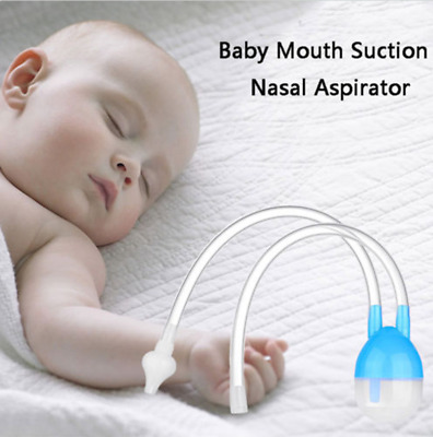 Newborn Baby Safety Nose Cleaner Kids Silicone Vacuum Suction Nasal Aspirator