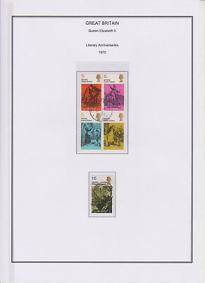 GB Used Stamp Collection 1970 Complete QEII Commemorative Year Set See All Scans