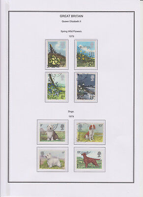 GB Used Stamp Collection 1979 Full Commemorative Year Set Complete See All Scans