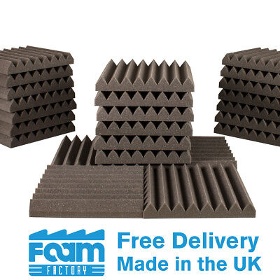 56 Wedge Acoustic Foam Panels 50mm thick 300mm Studio Room Sound Treatment Tiles
