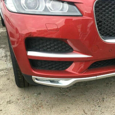 For Jaguar F-PACE 2016 2017 2018 Front Lower Grille Bumper Cover Trim Stickers