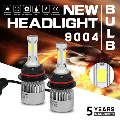 72W 16000LM 9004 HB1 LED Headlight Bulb High/Low Beams 6500K Lamp Conversion 4FP