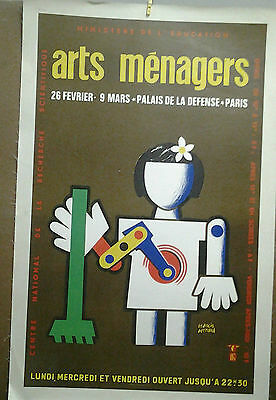 Affiche Ancienne Grand Palais Arts Menagers Paris Francis Bernard