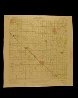 Selma California vintage 1954 original USGS Topographical chart