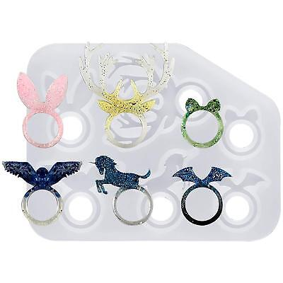 Kawaii Animal Stacking Ring Silicone Mould for Resin Epoxy Jewellery Making