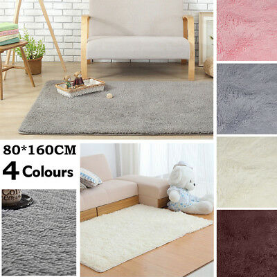 Fluffy Rugs Anti-Skid Shaggy Areas Rug Dining Room Carpet Floor Mat Home Bedroom